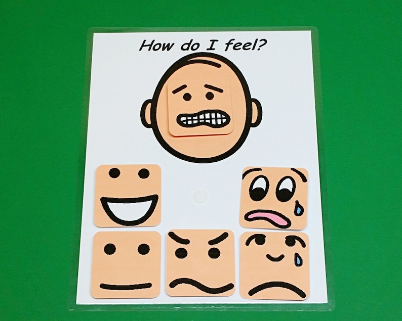 How Do I Feel Interactive Board  Autism PCS and ABA Visual image 0