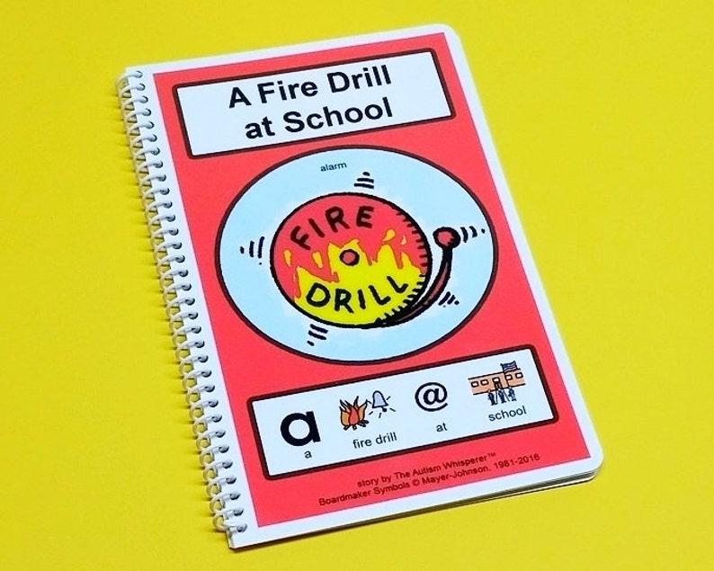A Fire Drill at School  Autism Social Story PCS  Preschool image 0