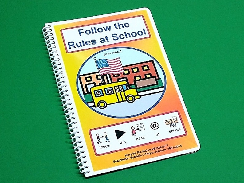 Follow the Rules at School  Autism Social Story  Elementary image 0