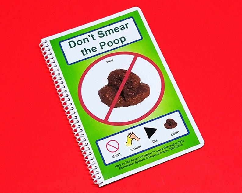 Don't Smear the Poop  PCS Autism Social Story  image 0