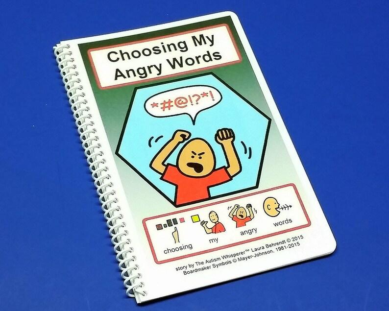 Choosing My Angry Words  Autism Social Skills Story  PCS  image 0