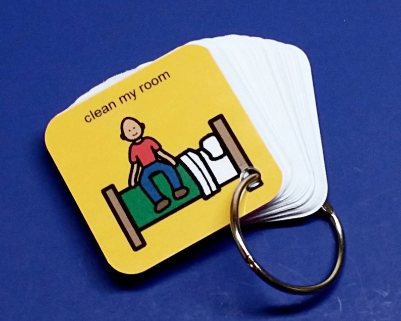 Clean My Room Autism PCS Keyring Prompter Organizer  Visual image 0