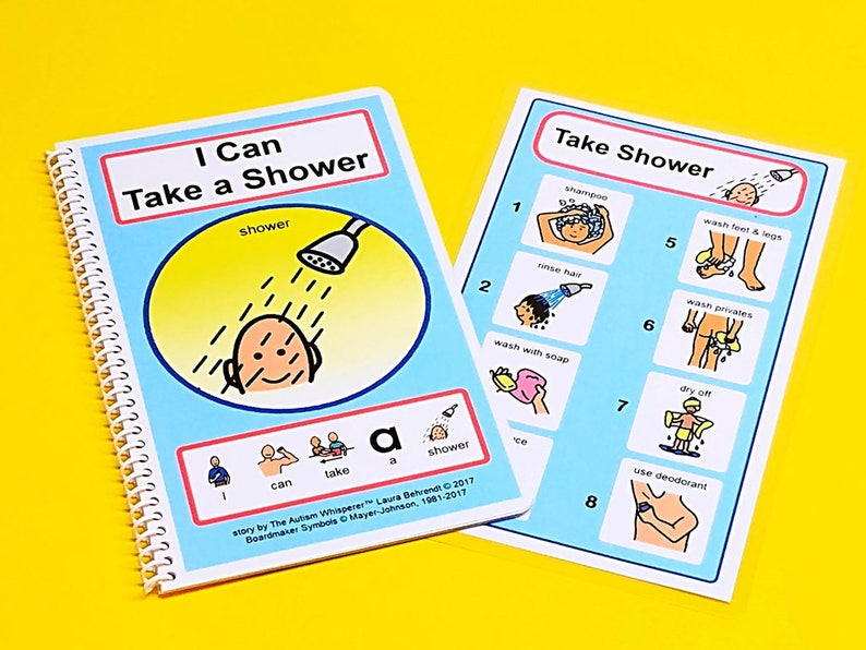 I Can Take a Shower  PCS Grooming Story and Picture Schedule image 0