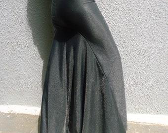 Mermaid Skirt -Ready to ship-Sparkle elastic grey -Tribal Fusion Bellydance Skirt- Burlesque