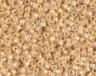 Size 11-5 grams Gold Alabaster-Opal SL-Trans.- Dyed- Miyuki Delica Beads Japanese Cylinder Seed Beads DB 621 Retail /& Wholesale