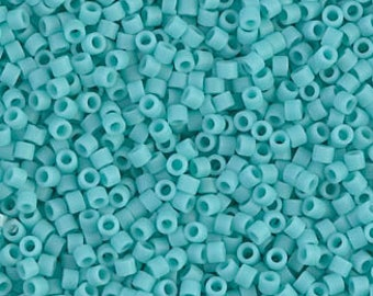 Size 11-5 grams Retail /& Wholesale Duracoat Opaque Sea Opal Japanese Cylinder Seed Beads Turqoiuse DB 2125 Miyuki Delica Beads