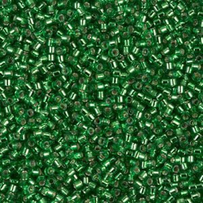 Miyuki Delica Beads Silver Lined Christmas Green Wholesale and Retail DB 46 5 grams Miyuki Delica /& Seed Beads Size 11