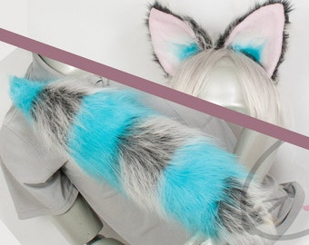 Fluffy Movie Cheshire Cat Ear and Tail Set Cosplay, Accessories, Costume