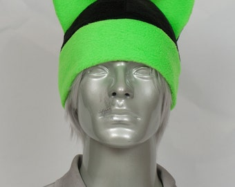 Fluorescent Lime Mohawk Hat