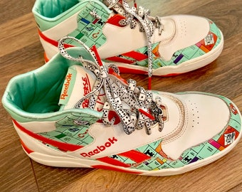 sale retailer 54fcc 2eeac Reebok Monopoly Hasbro Hi Tops Sneakers Men Boy 6
