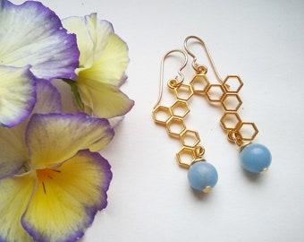Love bees angelite earrings