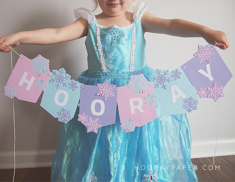 Frozen Svg Cutting Files Flag Banner Elsa Birthday Party Etsy