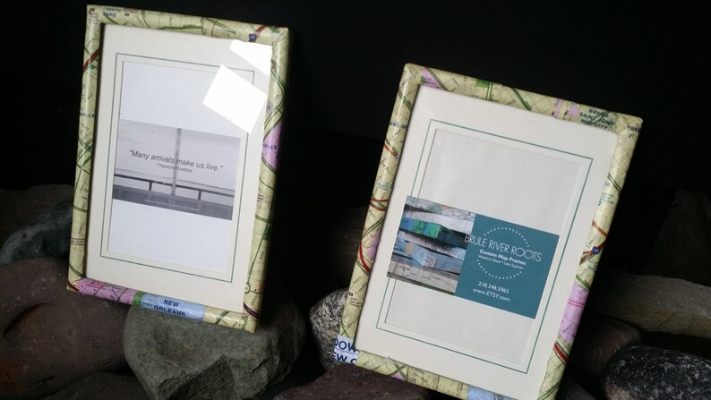 8x10 Custom Map Picture Frame CHOOSE YOUR LOCATION!