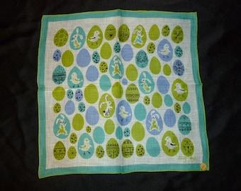 Vintage Tammis Keefe Easter Handkerchief