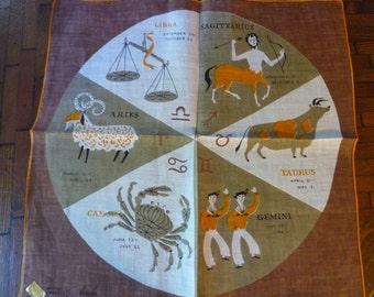 Vintage Tammis Keefe Astrology Handkerchief