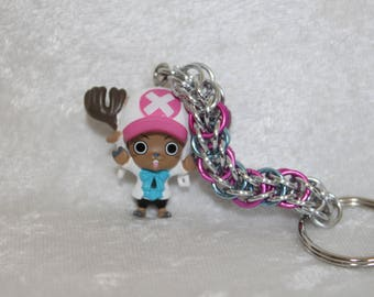 Custom, Handcrafted Tony Tony Chopper One Piece chainmaille keychain