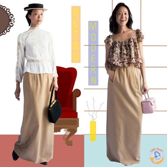 Vintage Maxi Skirt / 50s Wool skirt / Vintage long