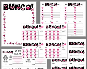 Items Similar To Touchdown Bunco Printable Set Football Bunco Score
