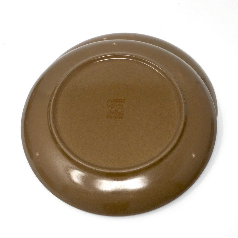 MCM Design Iroquois China Nutmeg Brown 1947-1965 Dishwasher Safe Russel Wright Casual China Everyday Durable Dinner Plate Early Mark