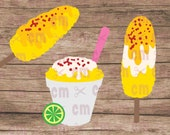 Elote, Corn on the Cob, Elote en Vaso, Bundle Pack, Can be used Layered or Flat, Mexican Theme Party, Mexican svg, Elote svg, SVG DXF PNG