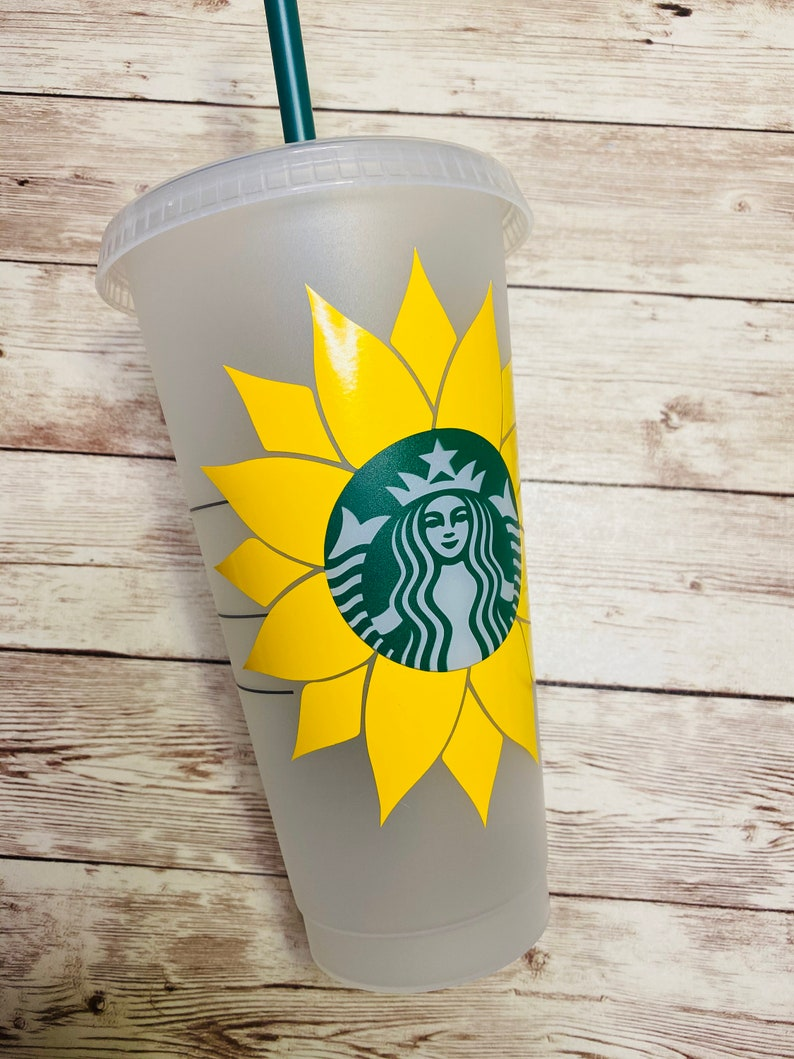 Download Sunflower Starbucks Cup SVG Instant Download Can be | Etsy