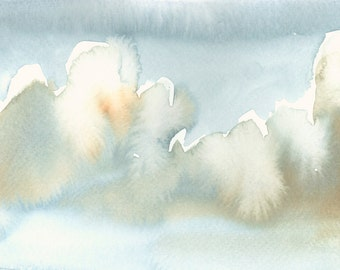 Cloud Artwork Fine Art Print from Original Watercolor Study