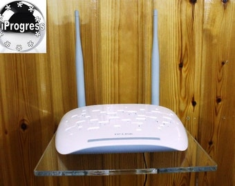 Universal Shelf Holder for Wireless Router Modem Gateway Repeater Booster