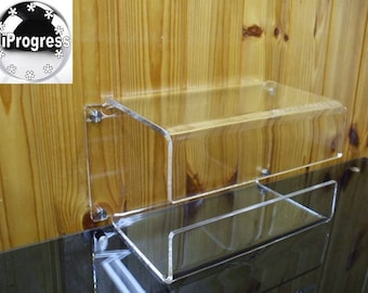 Wall Dispenser Holder Rack for Disposable Garbage Trash Bags 5 inches Diameter Roll