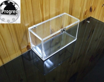 Clear 6 mm thk Acrylic Box With Hinged Lid - Different sizes