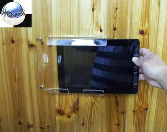 Acrylic Wall Hanging Holder Display Mount for Samsung Tab 1 2 3 10.1 inches Tablets