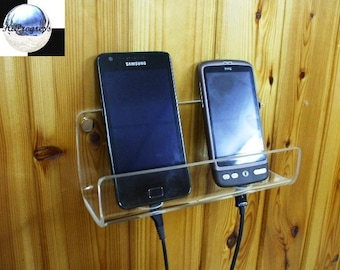 Universal Double Smartphone Wall Installation Holder Stand Display