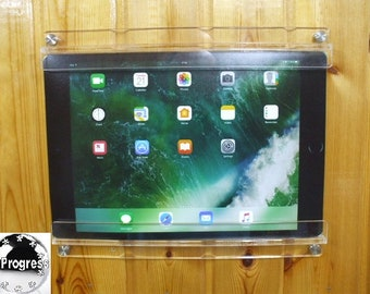 Acrylic Wall Hanging Holder Display Mount for Large 12.9 inches iPad Pro Tablet