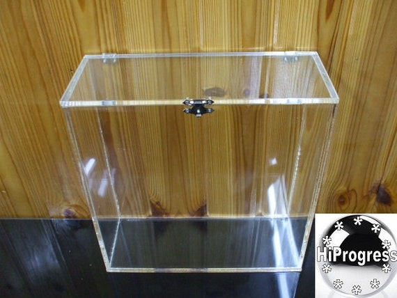 Square Clear 6 Mm Thk Acrylic Box With Hinged Lid Etsy