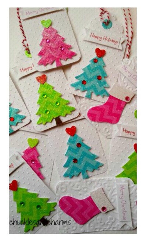 7b00ded11b194 Pink christmas tags Pink christmas gift tags pink christmas tree tags pink  glitter tags pink christmas chevron tree tags pink holiday tag