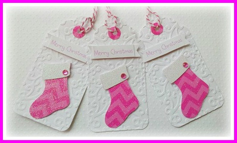 37404e30db11d Holiday gift tags Pink christmas tags Pink christmas gift tags pink  christmas stocking tags pink glitter tags pink christmas chevron tags