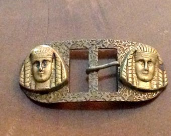 Art Dec\u00e9 Belt Buckle Egyptian Revival around 1920 Bronce Belt Clad Buckle Buckle