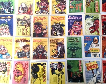 Vintage lot of 1960 Chewing Gum cards Foney Ads Mr Foney's Funnies
