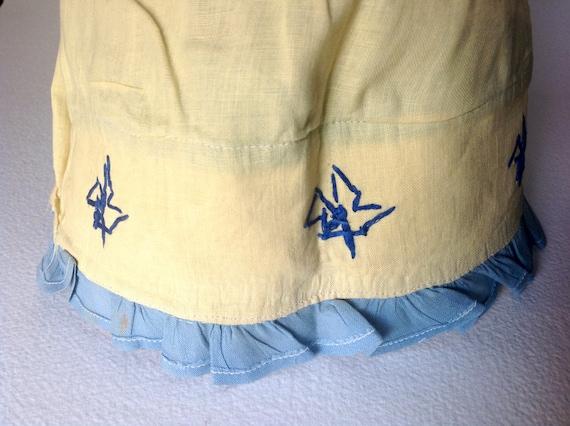 Vintage Victorian Deco era cloth Bonnet handmade … - image 8