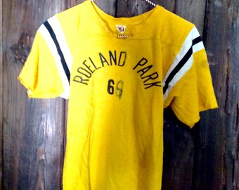 Vintage Mason athletic jersey Roeland Park rayon shirt