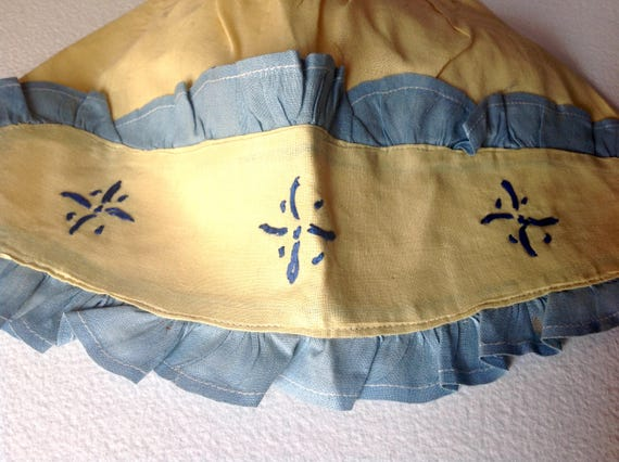 Vintage Victorian Deco era cloth Bonnet handmade … - image 2