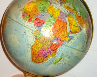 Vintage Replogle World Nations globe 12 inch diameter Le Roy Tolman