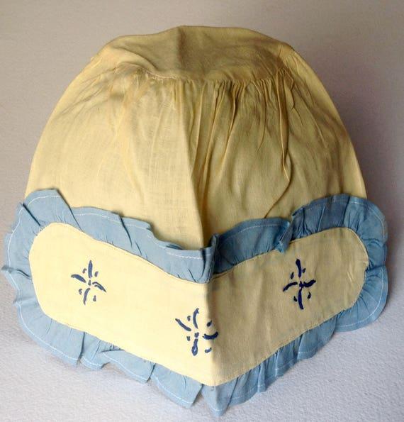 Vintage Victorian Deco era cloth Bonnet handmade … - image 4