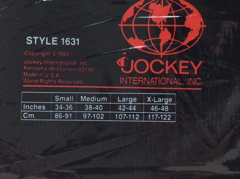 Vintage Jockey Nylon undershirt athletic shirt new old stock dead stock 80s tricot