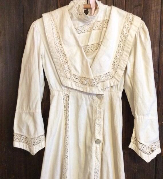 Vintage Edwardian cotton lawn dress handmade as is