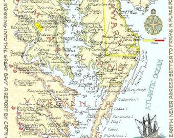 Chesapeake Bay Area - Two Sizes