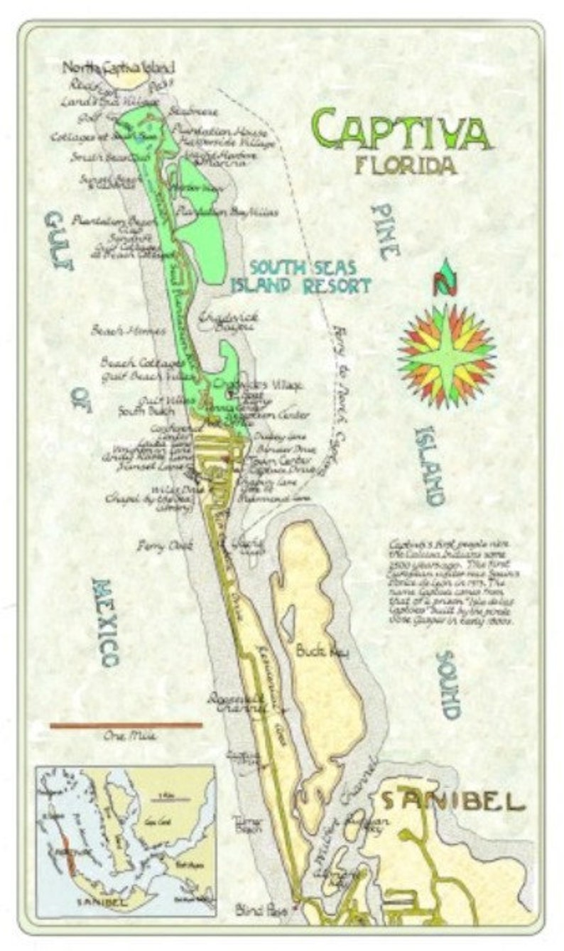 Captiva Florida Map