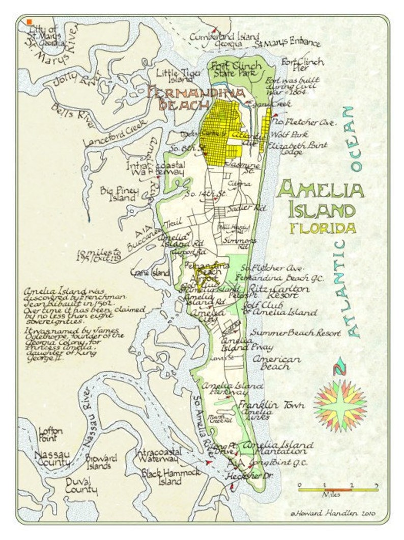 Amelia Island Florida in Two Sizes   Etsy