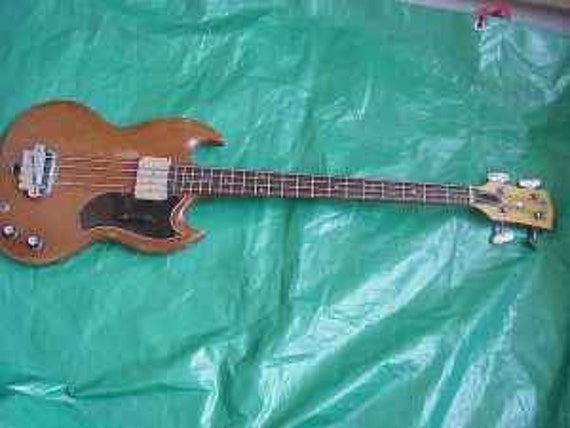 rare vintage 1966 gibson eb 0 electric bass guitar etsy. Black Bedroom Furniture Sets. Home Design Ideas