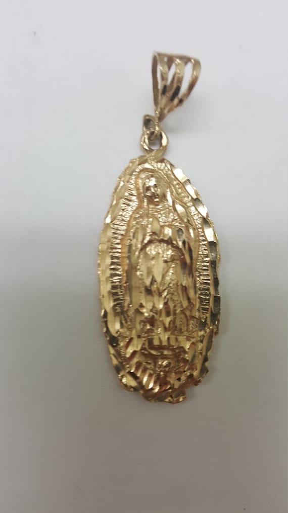 Estate Vintage Unisex  14k gold ornate religious p