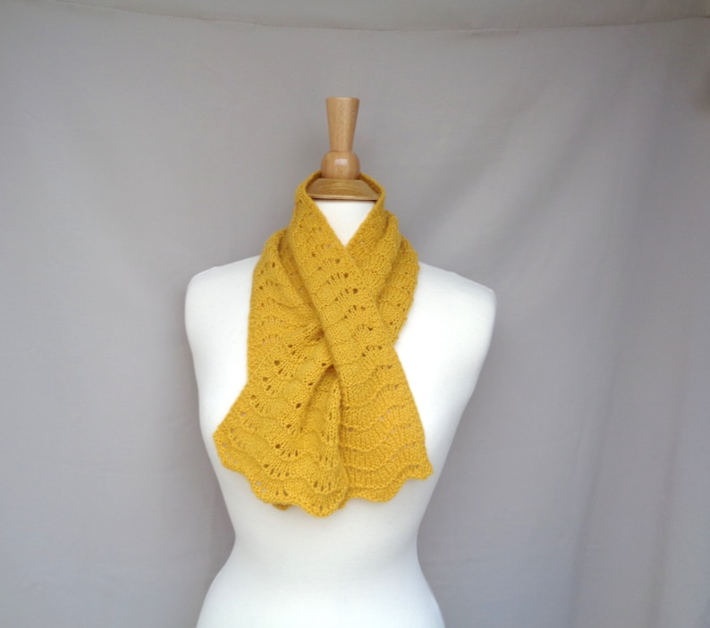Gold Neck Warmer Keyhole Scarf 100% Cashmere Pull Through image 0